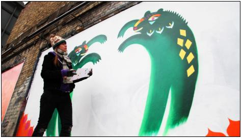 Circus Animaux at the Shoreditch Art Wall 4