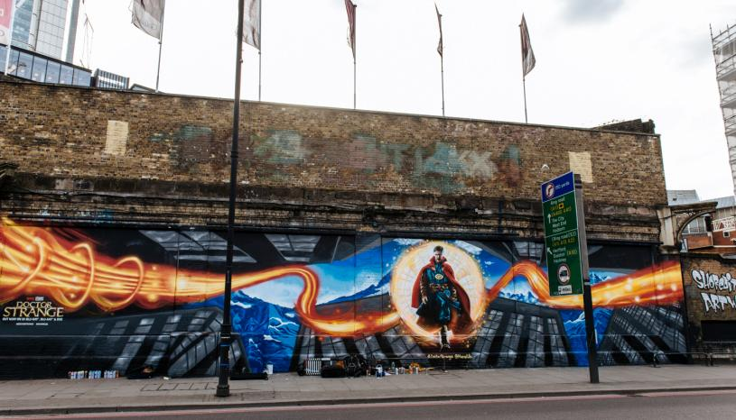 #DoctorStrange on the Shoreditch Art Wall