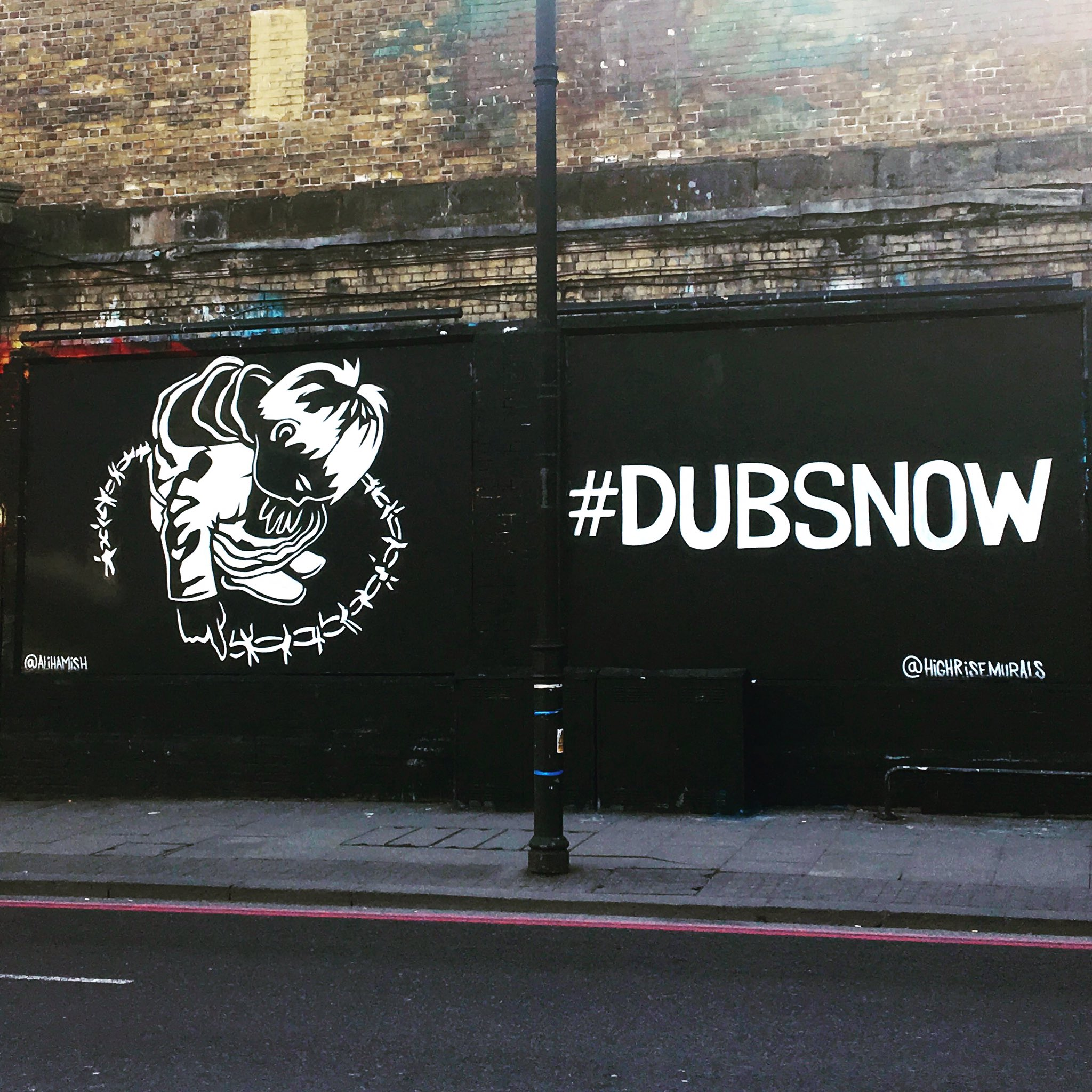 #DUBSNOW at the Shoreditch Art Wall