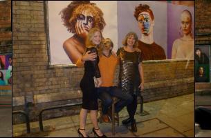 Rachell Smith / Khandiz Joni at London Art Wall Shoreditch special project
