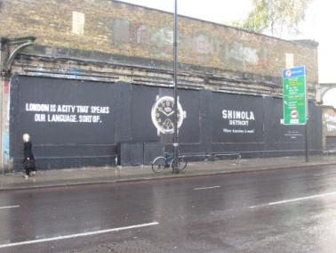 shinola on the shoreditch art wall