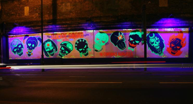 Suicide Squad now howing at the Shoreditch Art Wall