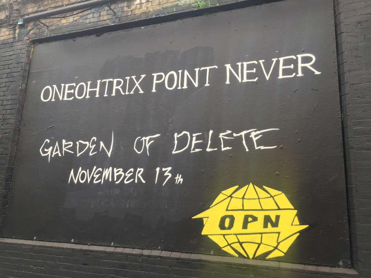 Warp records garden of delete at shoreditch art wall - Oneohtrix point never garden of delete ...
